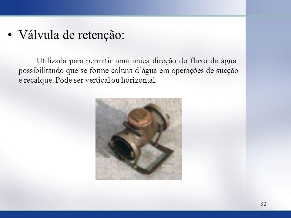 Válvula de retenção: