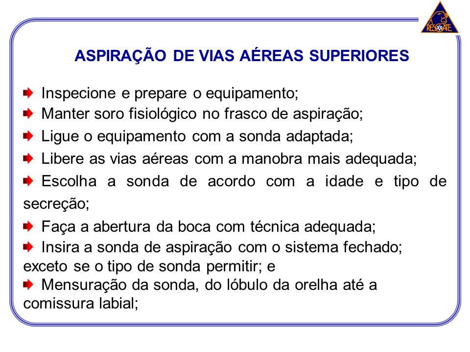 ASPIRAÇÃO DE VIAS AÉREAS SUPERIORES