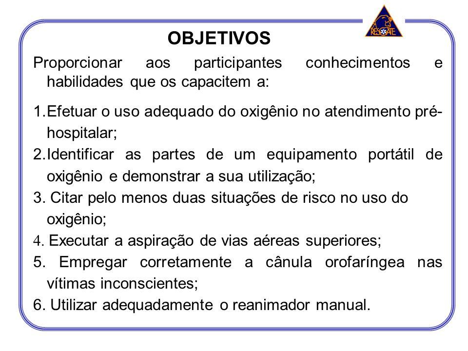 OBJETIVOS Proporcionar aos participantes conhecimentos e habilidades que os capacitem a: