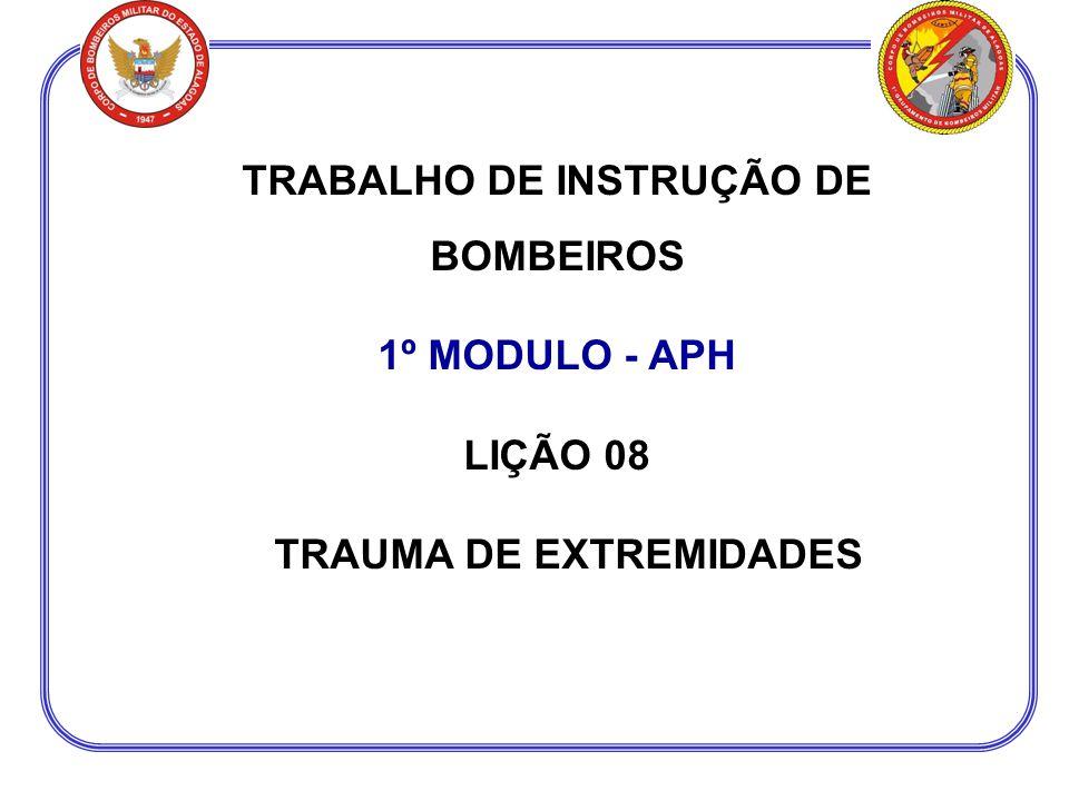 TRABALHO DE INSTRUÇÃO DE BOMBEIROS TRAUMA DE EXTREMIDADES