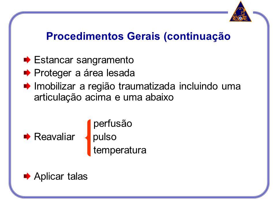 Procedimentos Gerais (continuação