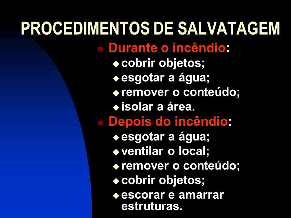 PROCEDIMENTOS DE SALVATAGEM