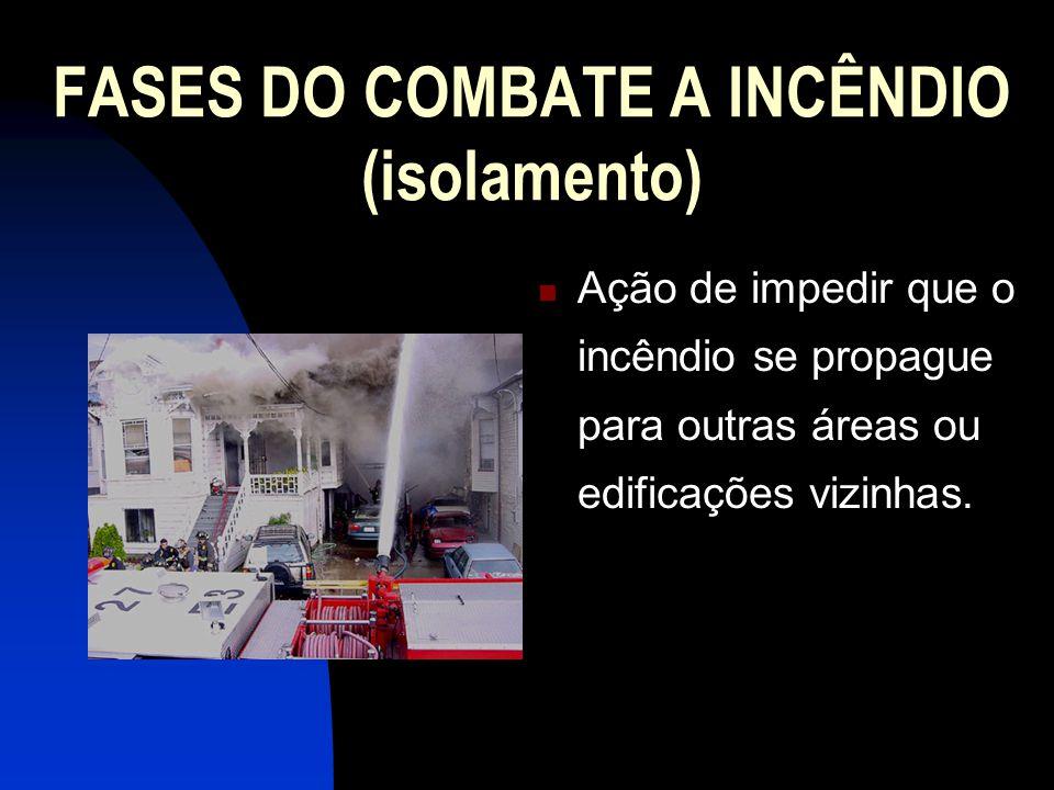 FASES DO COMBATE A INCÊNDIO (isolamento)
