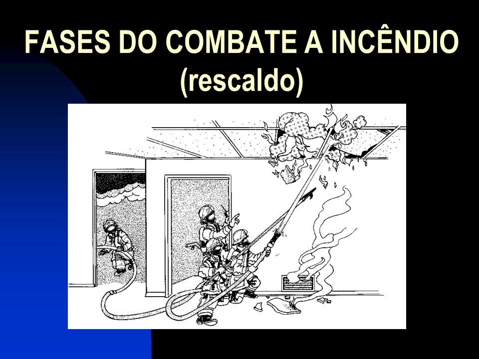 FASES DO COMBATE A INCÊNDIO (rescaldo)