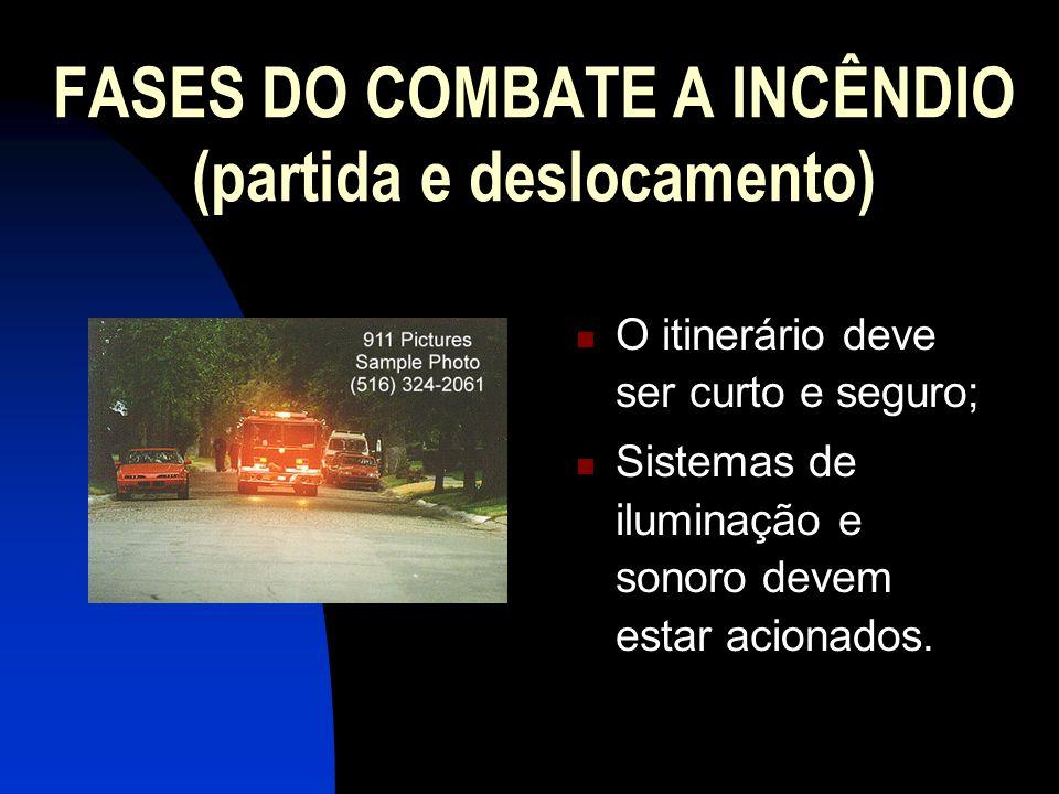 FASES DO COMBATE A INCÊNDIO (partida e deslocamento)