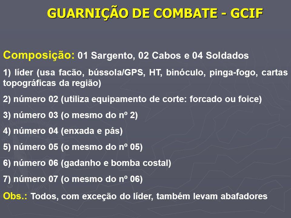 GUARNIÇÃO DE COMBATE - GCIF