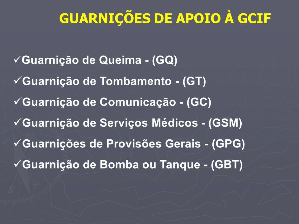 GUARNIÇÕES DE APOIO À GCIF