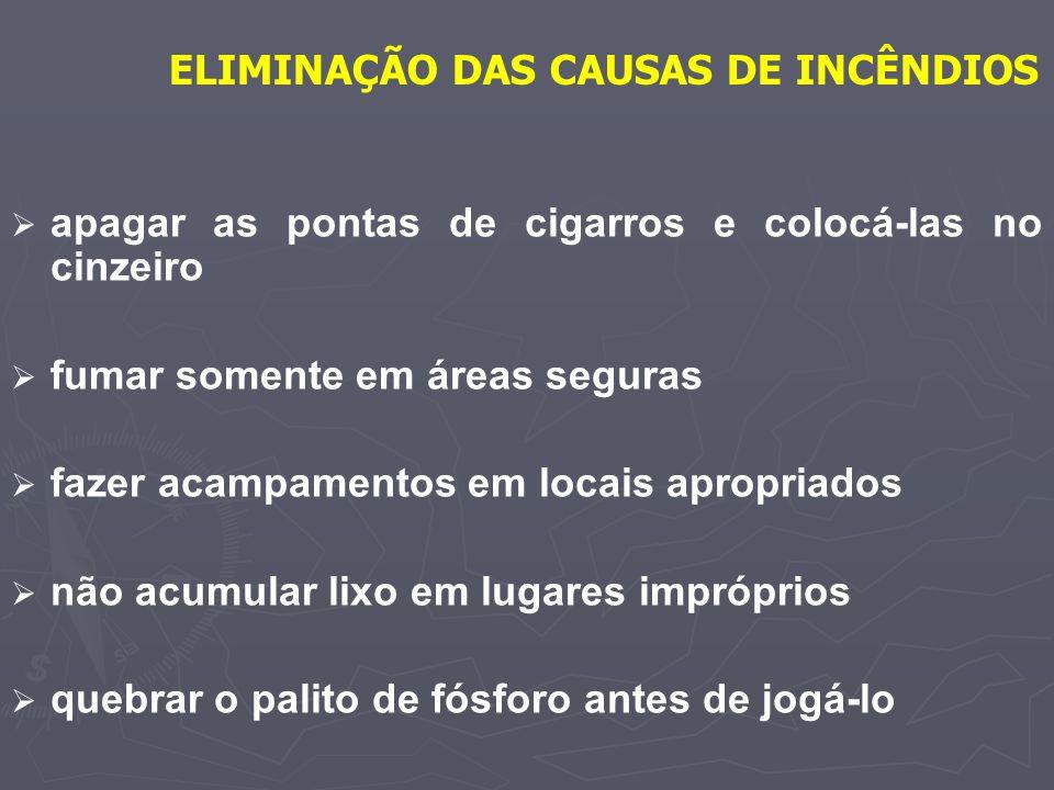 ELIMINAÇÃO DAS CAUSAS DE INCÊNDIOS