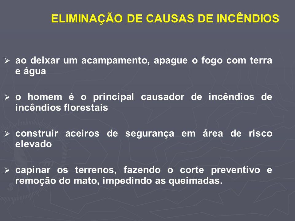 ELIMINAÇÃO DE CAUSAS DE INCÊNDIOS