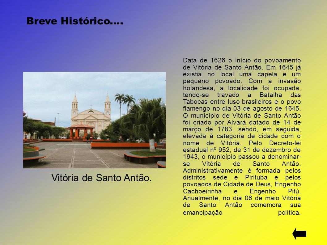 Breve Histórico.... Vitória de Santo Antão.