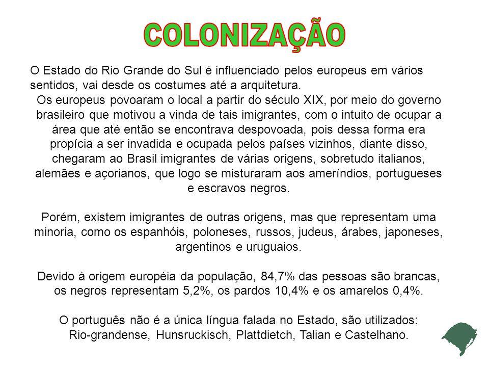 Rio-grandense, Hunsruckisch, Plattdietch, Talian e Castelhano.
