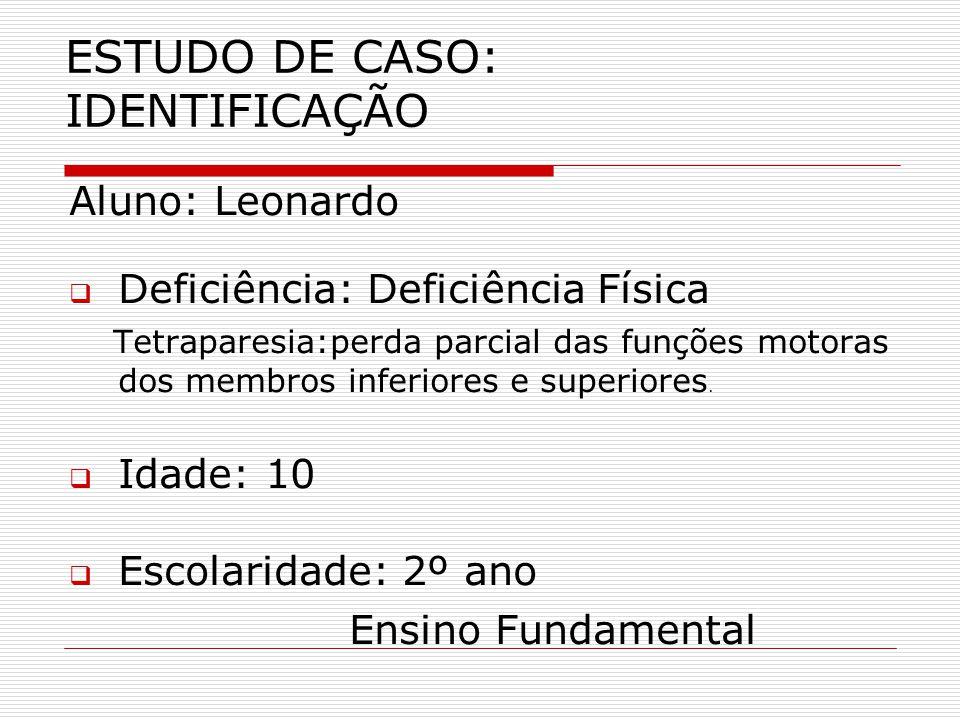 ESTUDO DE CASO: IDENTIFICAÇÃO