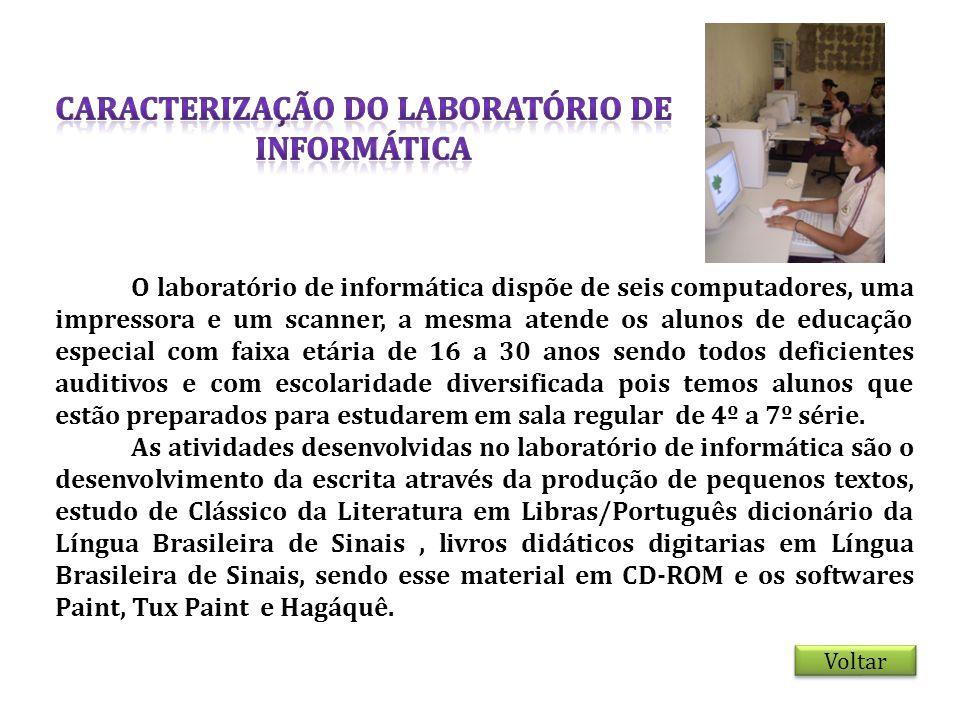CARACTERIZAÇÃO DO LABORATÓRIO DE INFORMÁTICA