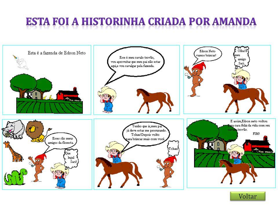 ESTA FOI A HISTORINHA CRIADA POR AMANDA