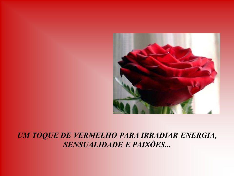 UM TOQUE DE VERMELHO PARA IRRADIAR ENERGIA, SENSUALIDADE E PAIXÕES...