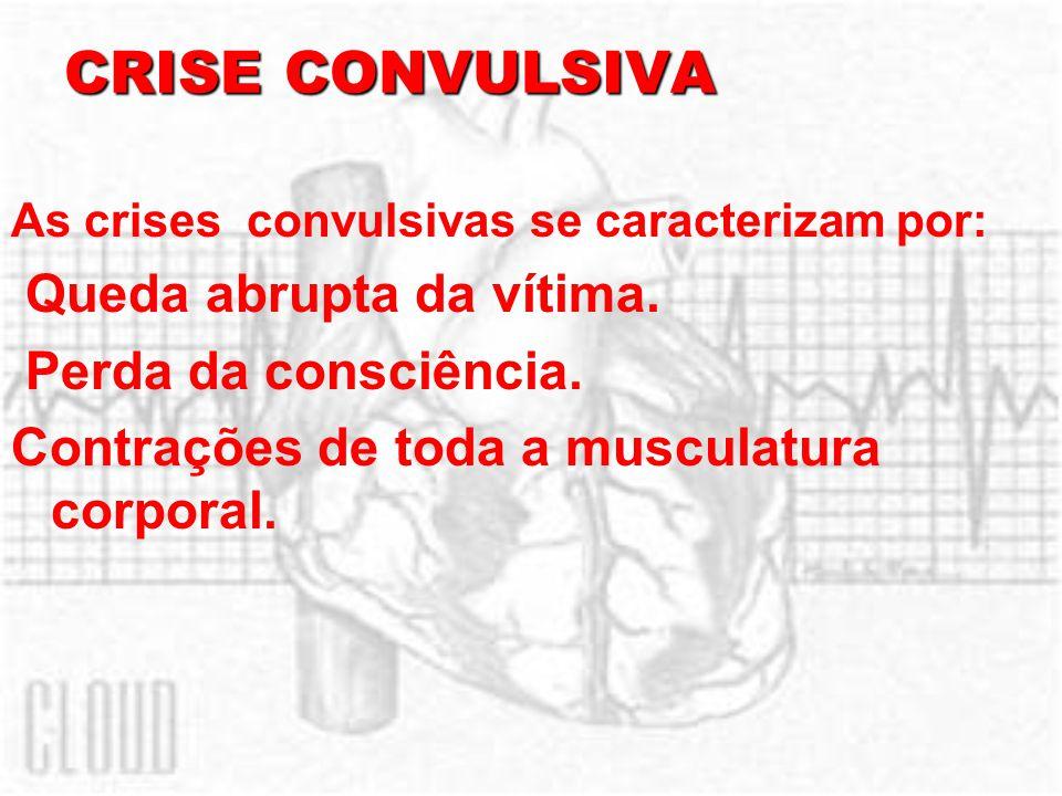 CRISE CONVULSIVA Queda abrupta da vítima. Perda da consciência.