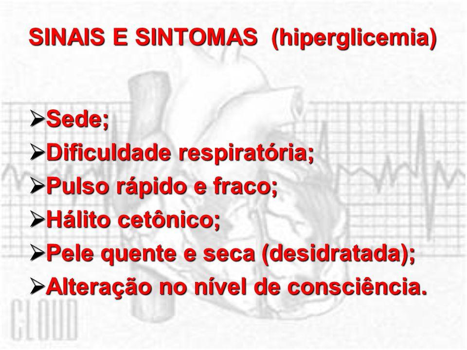 SINAIS E SINTOMAS (hiperglicemia)