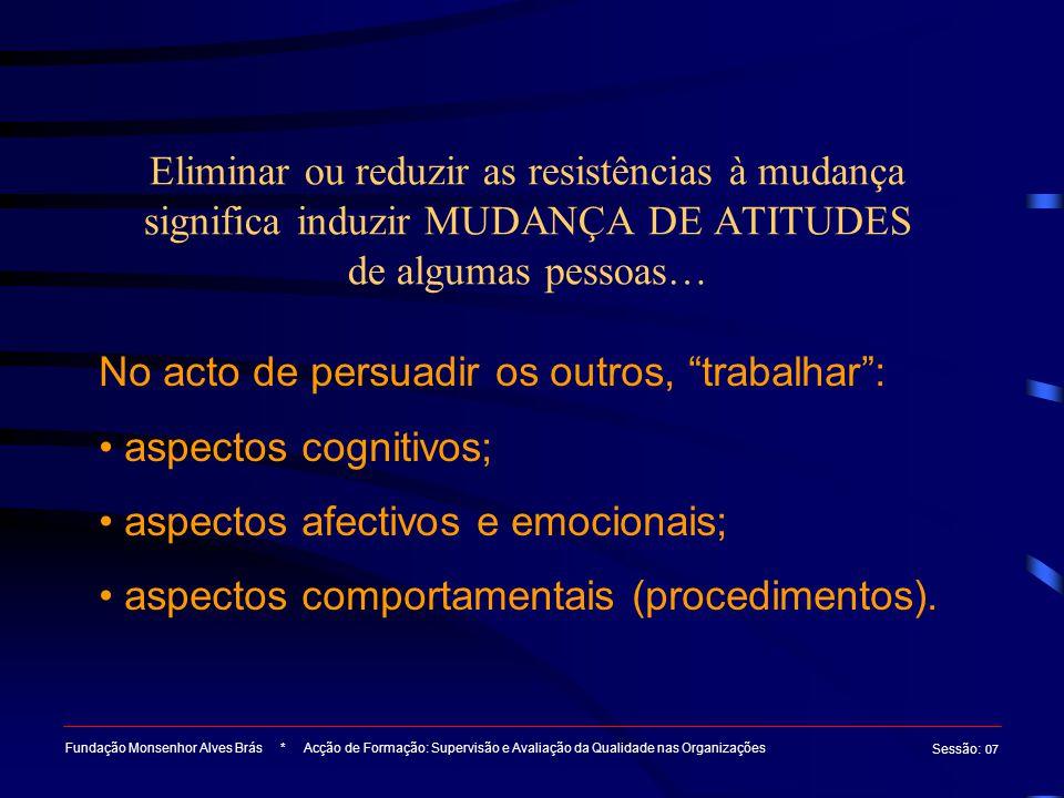 No acto de persuadir os outros, trabalhar : aspectos cognitivos;