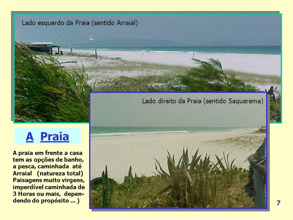 A Praia Lado esquerdo da Praia (sentido Arraial)