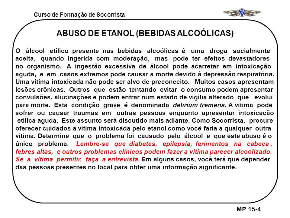 ABUSO DE ETANOL (BEBIDAS ALCOÓLICAS)