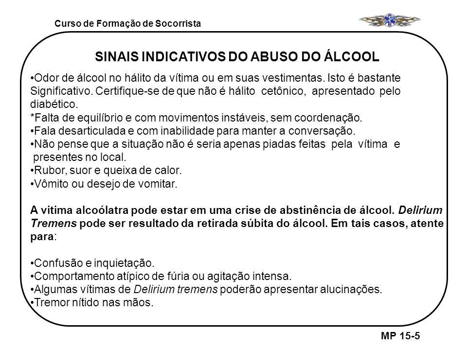 SINAIS INDICATIVOS DO ABUSO DO ÁLCOOL