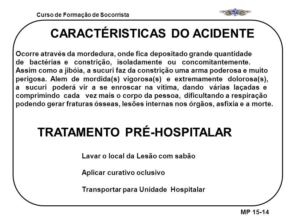 CARACTÉRISTICAS DO ACIDENTE