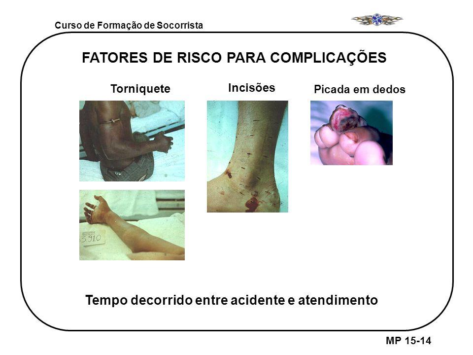FATORES DE RISCO PARA COMPLICAÇÕES