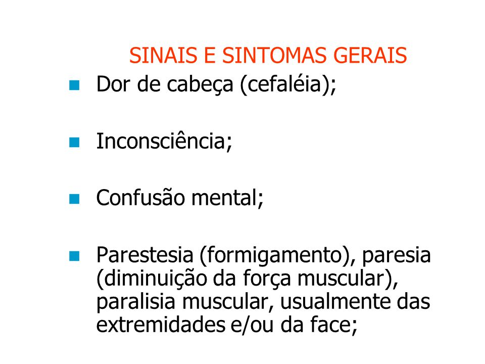 SINAIS E SINTOMAS GERAIS