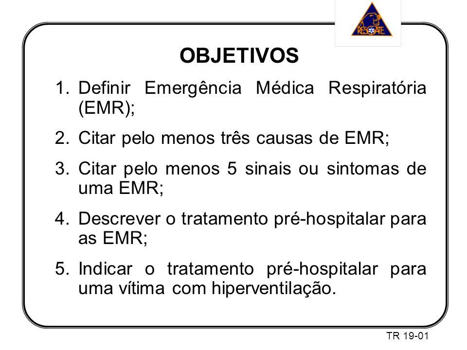 OBJETIVOS Definir Emergência Médica Respiratória (EMR);