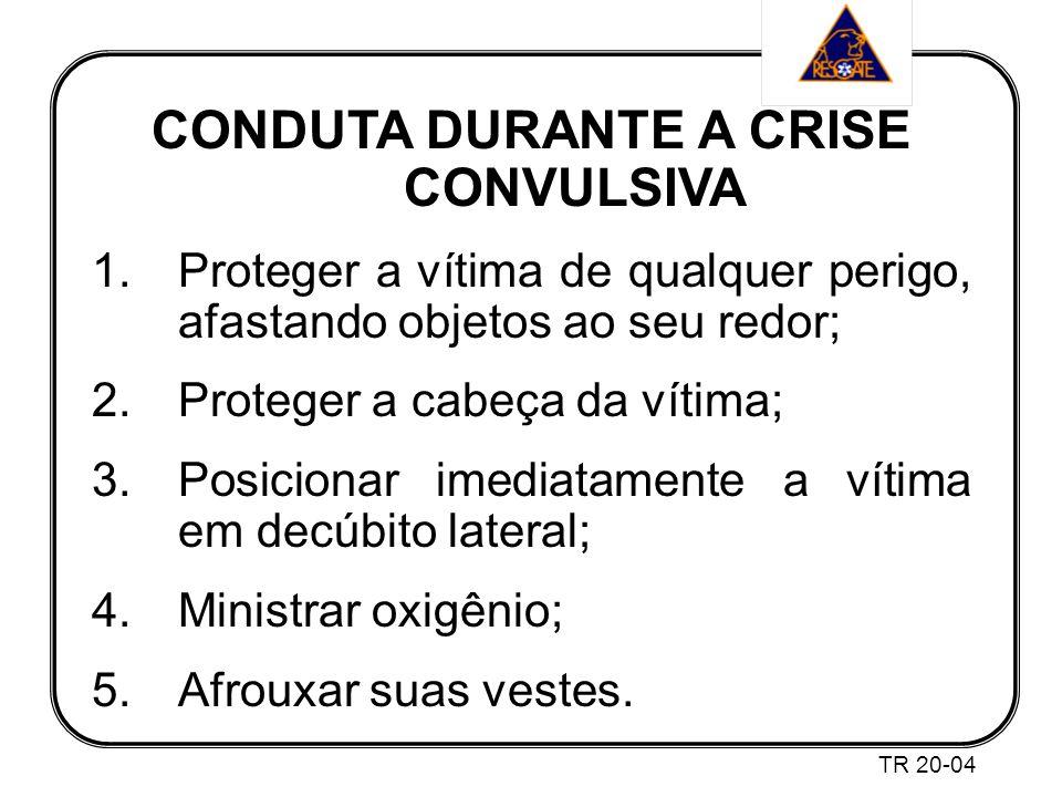 CONDUTA DURANTE A CRISE CONVULSIVA