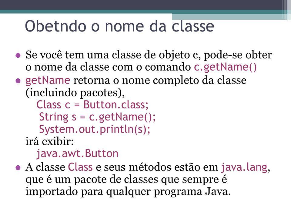 Obetndo o nome da classe