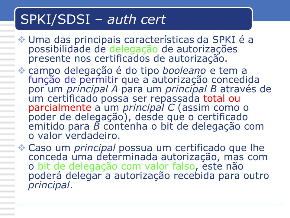 SPKI/SDSI – auth cert