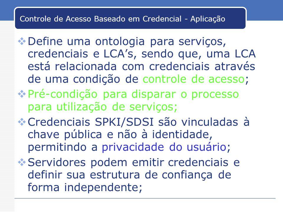 Controle de Acesso Baseado em Credencial - Aplicação