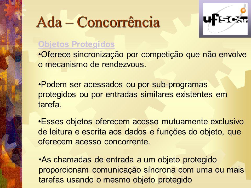 Ada – Concorrência Objetos Protegidos