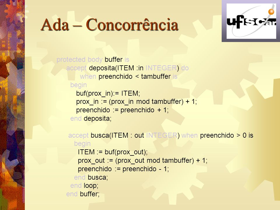 Ada – Concorrência protected body buffer is