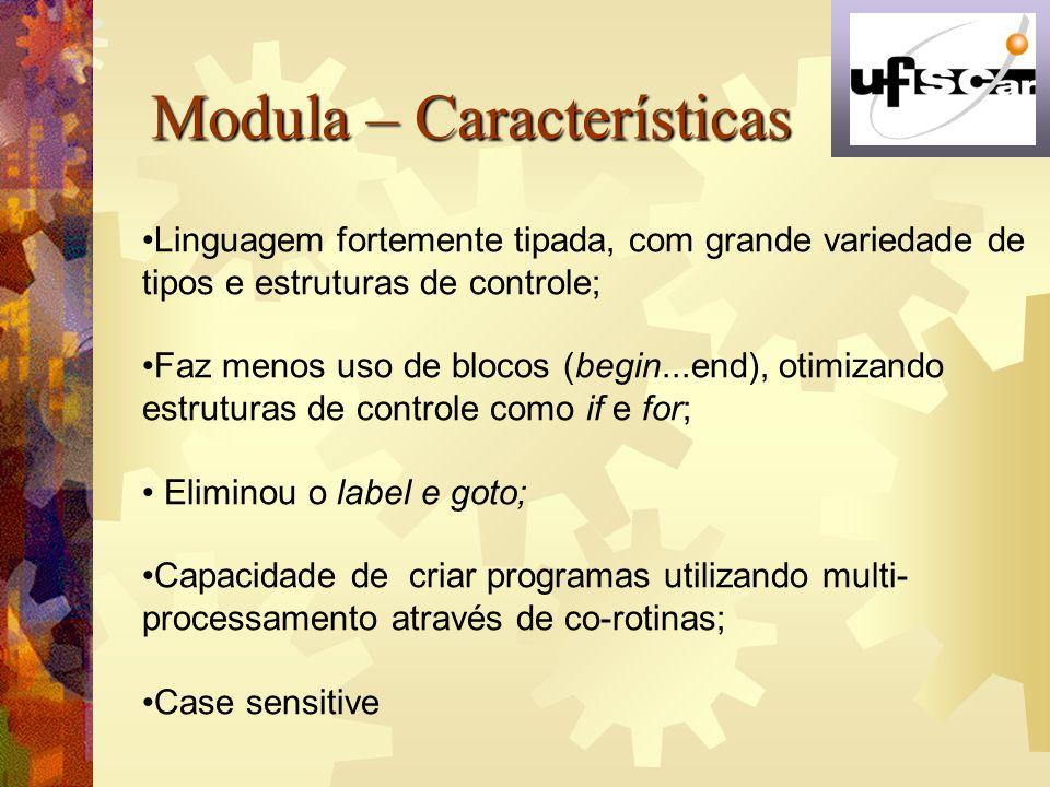 Modula – Características