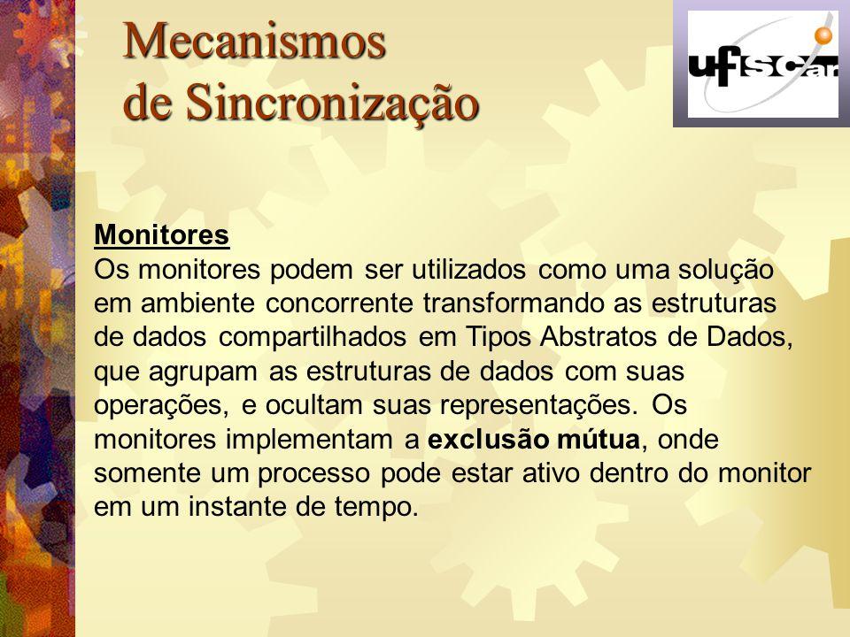 Mecanismos de Sincronização Monitores
