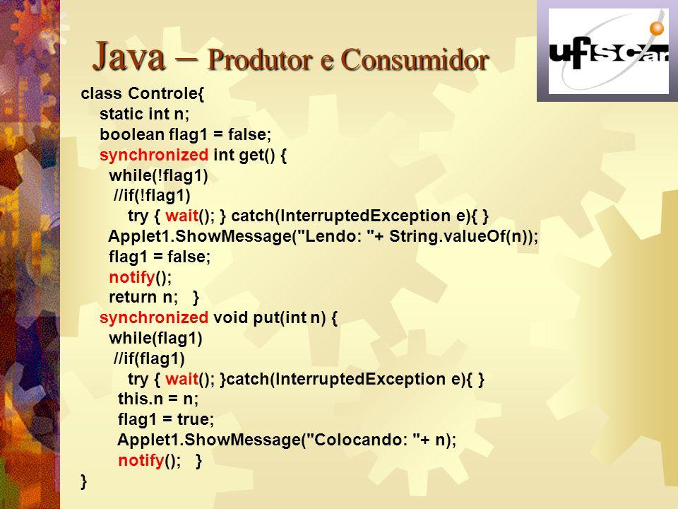 Java – Produtor e Consumidor