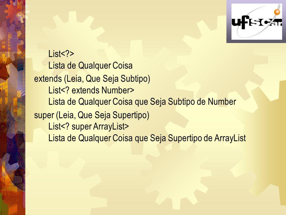 List< > Lista de Qualquer Coisa