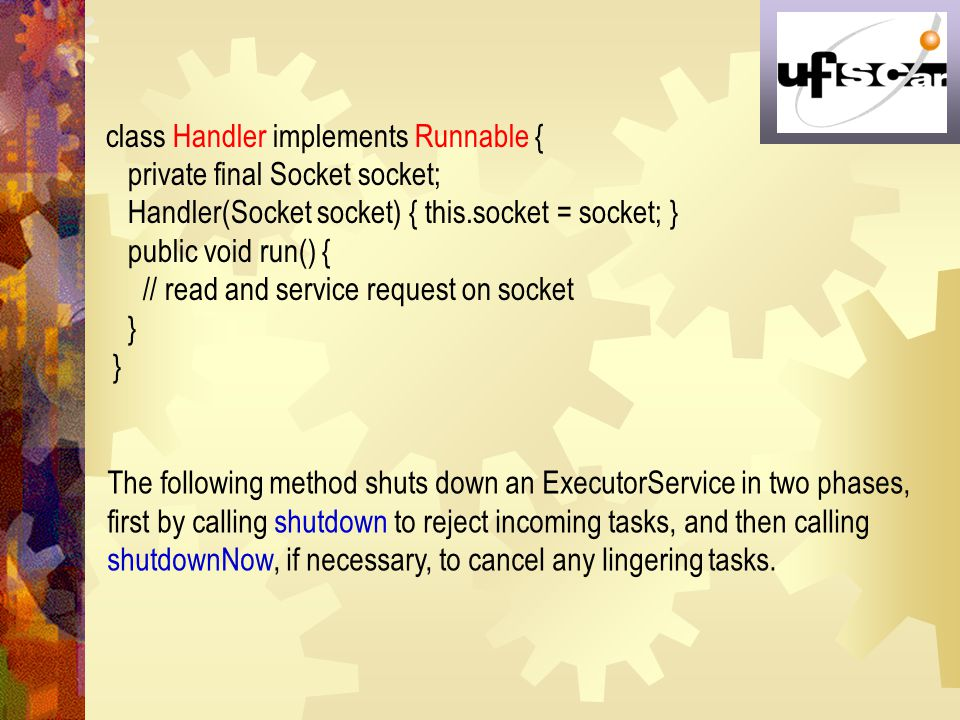 class Handler implements Runnable {