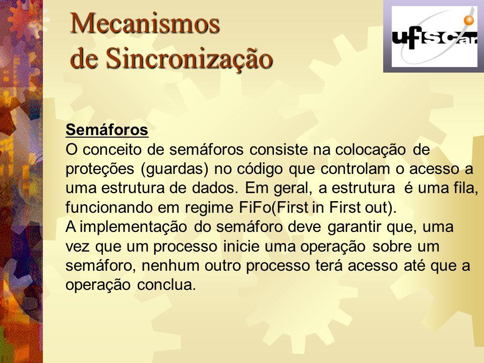 Mecanismos de Sincronização Semáforos