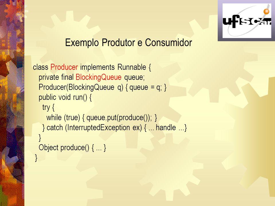 Exemplo Produtor e Consumidor