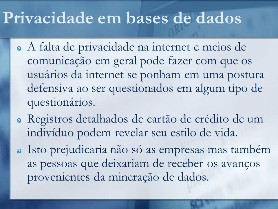 Privacidade em bases de dados