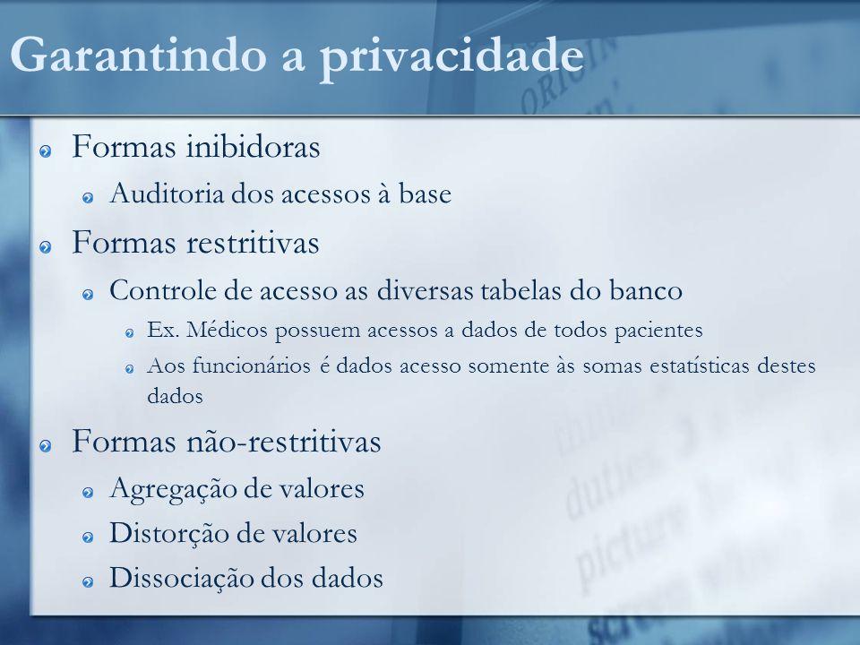 Garantindo a privacidade