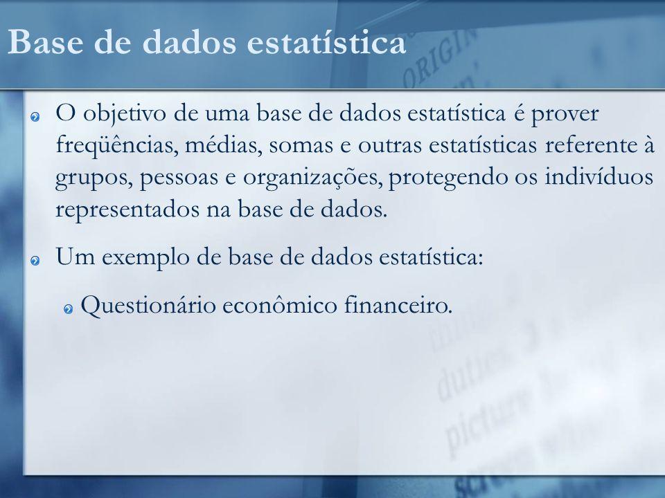 Base de dados estatística