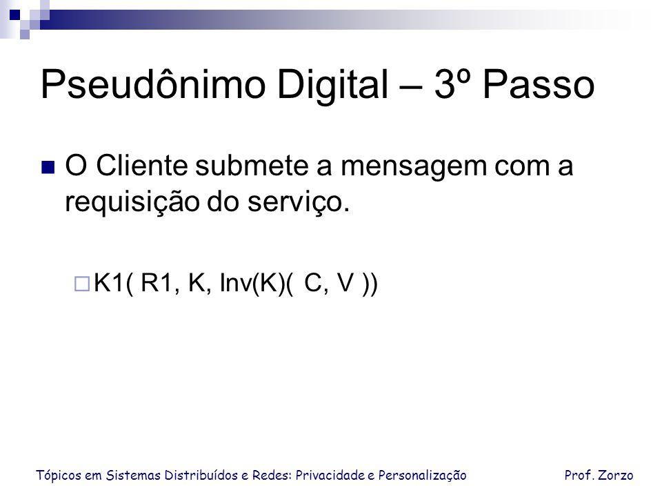 Pseudônimo Digital – 3º Passo