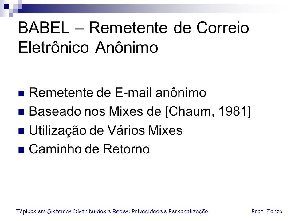 BABEL – Remetente de Correio Eletrônico Anônimo