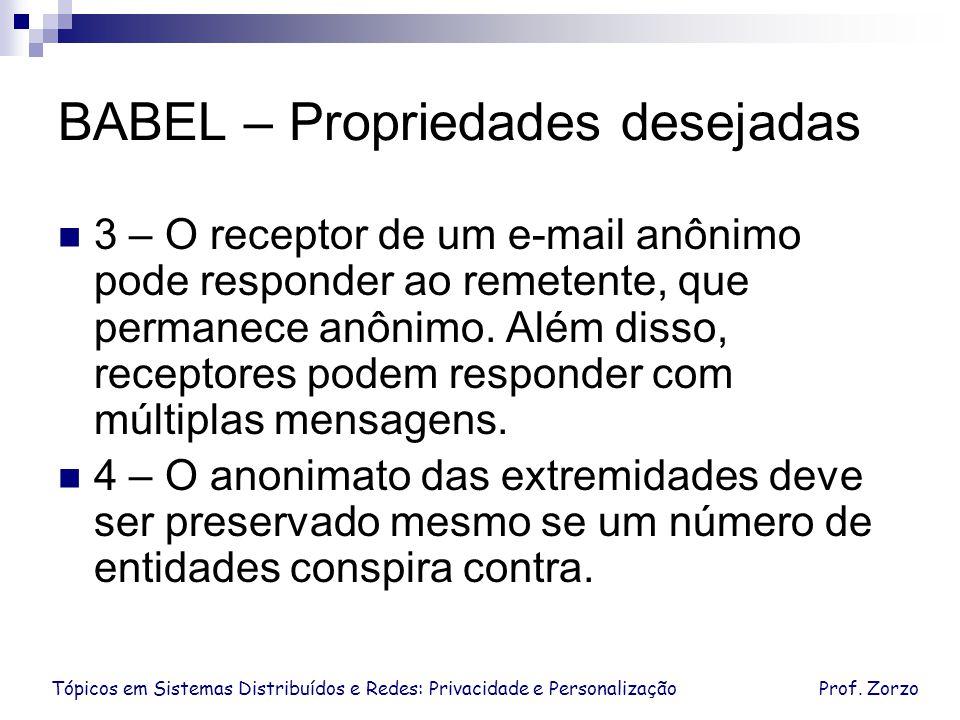 BABEL – Propriedades desejadas