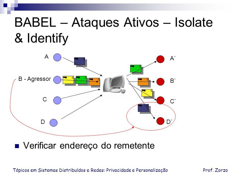 BABEL – Ataques Ativos – Isolate & Identify