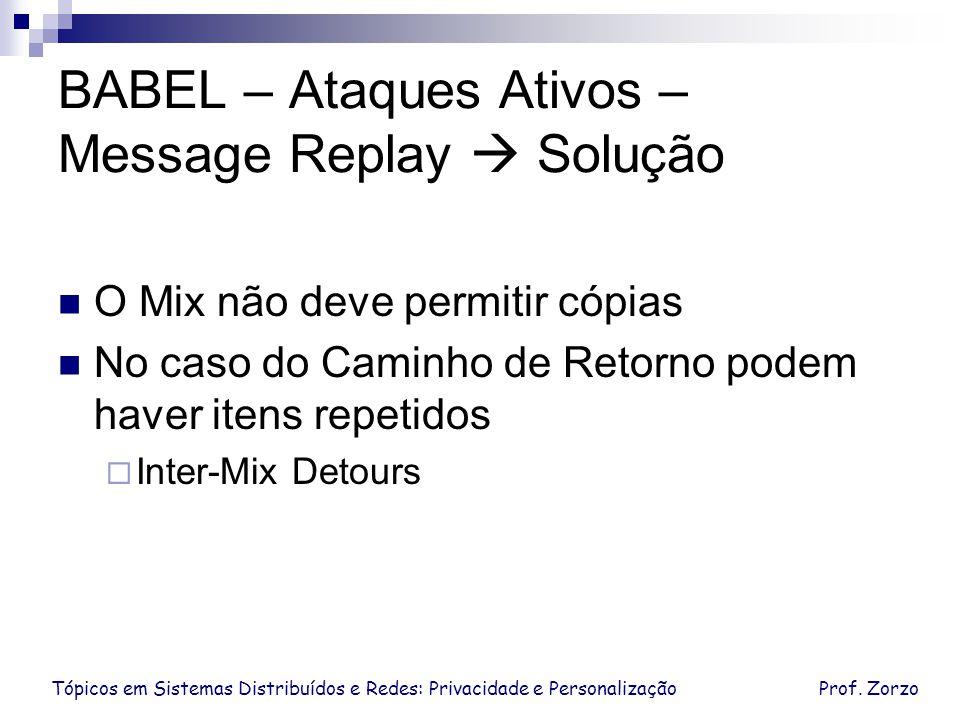 BABEL – Ataques Ativos – Message Replay  Solução